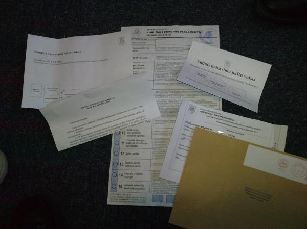Dokumentų, skirtų dalyvauti paštu rinkimuose į Europos Parlamentą, paketas