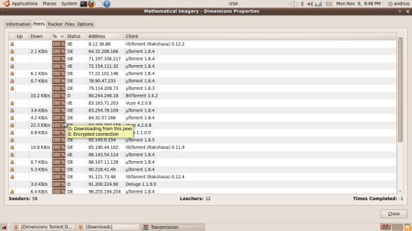 IP torento naudotojų adresus galima aptikti kiekvienoje torentų kliento programoje