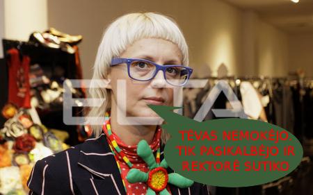 Ieva Ševiakovaitė. Visas jos dizainerės talentas yra atskleistas per tėvo blatą. Dailės akademijos stojamųjų egzaminų rezultatai parodė, kad ji - tiesiog бездарная личность.