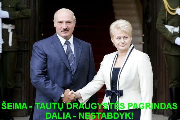 Luka6enka ir Grybauskaitė